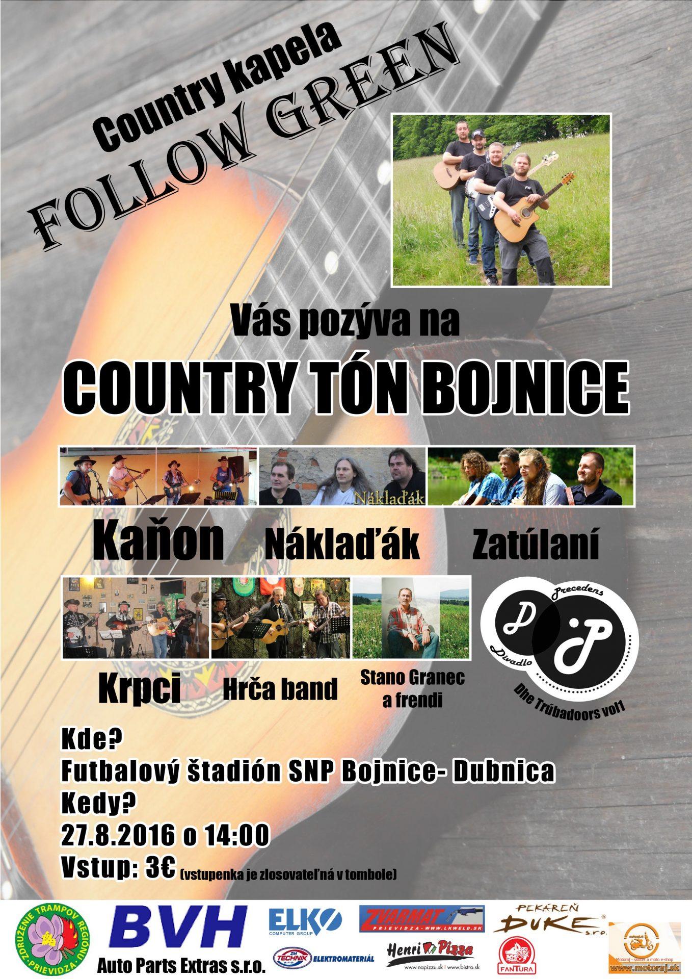 Nultý ročník regionálneho country festivalu Country Tón Bojnice